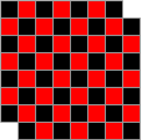 checkerboard with corners cut off